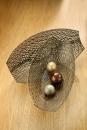 Gilde 1 x Metall Schale Oval  Onda 69612