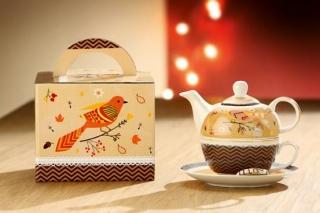 Gilde Porzellan Tea For One Vogelbeeren 49367