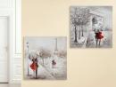 Gilde Bild Gemälde Pariser Schirmpaar...