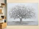 """Gilde Bild Gemälde """"Baum""""  handgemalt, grau/weiss  Länge 0 cm Breite 120 cm Höhe 90 cm 38738"""