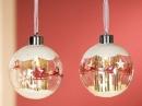 Gilde Glas Led Weihnachtskugel Baumhänger Schlitten...