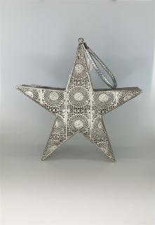 Formano Wili Stern 33cm Kreise silber  518767