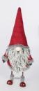 Formano Winter Wichtel 68 cm Textil rot grau 528322 Bild rechts