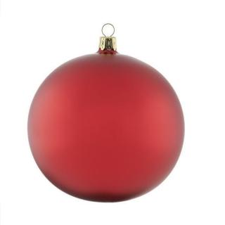 Rödentaler 2 er Set Weihnachtskugeln mundgeblasen Weihnachtsrot Seidenmatt 12cm R08-0355122