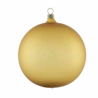 Rödentaler 2 er Set Weihnachtskugeln mundgeblasen Gold matt 12cm  R08-0361122