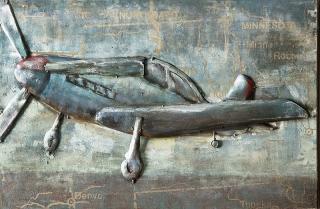 """Gilde Metall Bild """"Flying High""""  Handarbeit Kunstobjekt """"GILDE GALLERY""""  Breite 60 cm Höhe 40 cm 38758"""