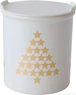 ASA Xmas Vorratsdose Tannenbäume, gold D. 9,5 cm, H. 10 cm 4872425