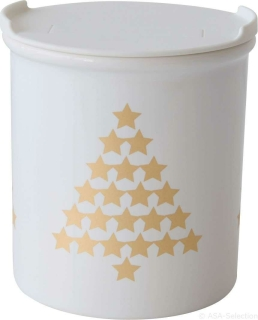 ASA Xmas Vorratsdose Tannenbäume, gold D. 13,5 cm, H. 14 cm 50708425