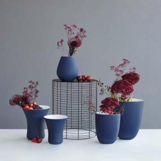 ASA Vaso Vase, blau D. 16,5/ 11 cm, H. 17 cm 62002126