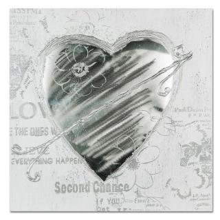 Formano Wandbild 60x60  Herz mit Alu   677358