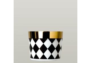 Fürstenberg Becher o. H. 1785 6097/2 SIP OF GOLD BLACK & WHITE