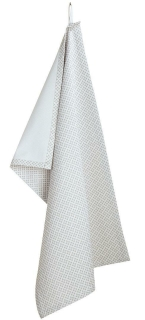 "Gilde Textil  Geschirrtuch Grey Ornament Ornament Design ""Bella Vita""Länge 40 cm Breite 60 cm Höhe 0 cm  49493"