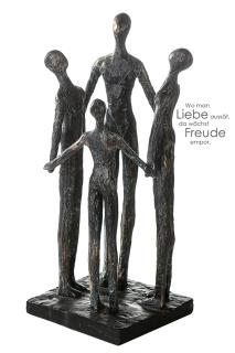 "Casablanca Skulptur ""Group"" bronce,Poly,Höhe 30cm 12x12cm,auf schwarzer Base 159901"