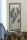 "Casablanca Wanddeko ""Flowers""  Metall  Blumen . silber . antik finish in dunkelbraunem Rahmen   Breite: 31 cm  Höhe: 62 cm 74684"