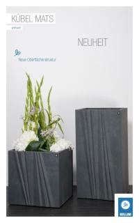 Bellini Kübel  Mats eckig anthrazit© 411091 18 cm Höhe 50 cm Pflanztopf Blumentopf kubisch