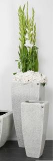 Bellini Vase Berit Cristale 59 cm creme 410656