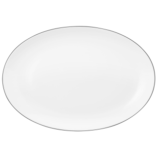 Seltmann & Weiden Lido Servierplatte oval 35x24 cm Black Line  001.741631