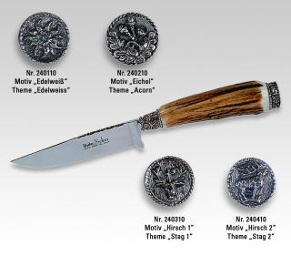 Linder Trachtenmesser mit Löwenmotiv-Kappe 240510