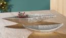 Gilde Keramik Schale Tegola  versilbert L= 17 cm B= 56 cm...