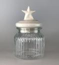 Gilde Glas Vorratsdose My Star  mit weissem und grauem...