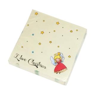 Goebel Rosi, Bolli, Fredi & Clausi - Servietten Weihnachten I Love Christmas 37000241