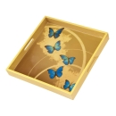 Goebel Blue Butterflies - Tablett Artis Orbis Joanna...