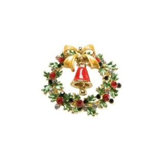Goebel Brosche - Kranz mit Glocke Fitz and Floyd Fitz & Floyd Christmas Collection 51000521 Neuheit 2018