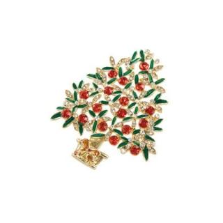 Goebel Brosche - Baum Gold-Grün Fitz and Floyd Fitz & Floyd Christmas Collection 51000561 Neuheit 2018