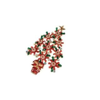 Goebel Brosche - Baum Rot-Grün Fitz and Floyd Fitz & Floyd Christmas Collection 51000661 Neuheit 2018