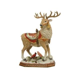 Goebel Hirsch mit Vögeln Fitz and Floyd Fitz & Floyd Christmas Collection 51000591 Neuheit 2018