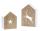 """Casablanca Windlicht """"Madera"""" Rentier-Motiv,Porzellan Höhe 20cm, Breite 13cm, Tiefe 6,5cm 146242"""