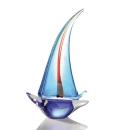 """Casablanca Glasskulptur """"Segelboot"""" blau/silber..."""