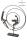 "Casablanca Design Skulptur ""Circles"" brüniert Höhe 23cm aus Eisen 174609"