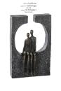 """Casablanca Skulptur """"Zweisamkeit"""" Poly,bronzef...."""