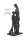 """Casablanca Skulptur """"Tierlieb"""" Poly,bronzefarben  graue Basis Höhe 31cm, Breite 14cm  179713"""