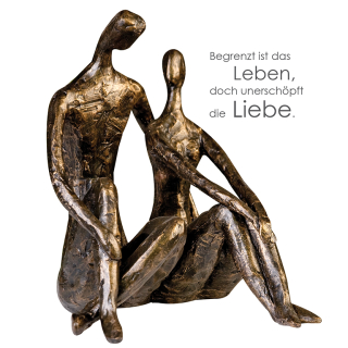 "Casablanca Skulptur ""Date"" bronce,Poly,Höhe 25,5cm Breite 20cm 159773"