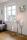 Fink Luxor  Windlicht  Aluminium  vernickelt  Edelstahl  vernickelt  silberfarben  Höhe 110 cm  Durchmesser 30 cm 159275