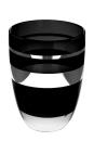 Fink RIVA vase,Windlicht,schwarz,m.Platinum  Höhe...