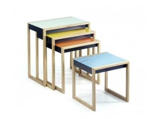 Nesting Tables Satztische  4er-Set by Josef Albers