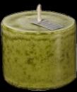 Mosaik Outdoor XXL Kerze  10x15 cm Basic  olive 01015230