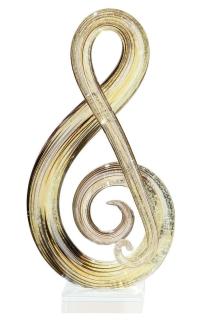 """Gilde GlasArt Skulptur """"Musicale"""" amber/braun/schwarz, mundgeblasen Höhe 30,0 cm 39465"""