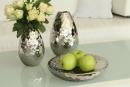 """Gilde Vase """"Palace"""" platin Höhe 20,0 cm Durchm. 13,5 cm 43719"""