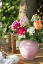 Fink Livia  Vase  Glas  rose  Höhe 18 cm  Durchmesser 16 cm 115200