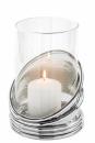 Fink Colette  Windlicht  Glas  vernickelt  silberfarben...