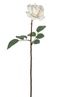 Fink Rose  Kunstblume  Kunstfasern  weiß  Höhe 68 cm   180372
