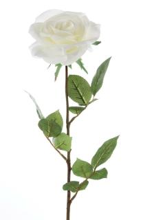 Gilde Rose Tina aus Kunststoff · weiß Höhe 71 cm Kunstblume 53543