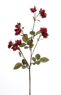Gilde Rosenzweig Nicca aus Kunststoff · dunkel rot mit 11 Rosenblüten Höhe 73 cm Höhe 73,0 cm 53579