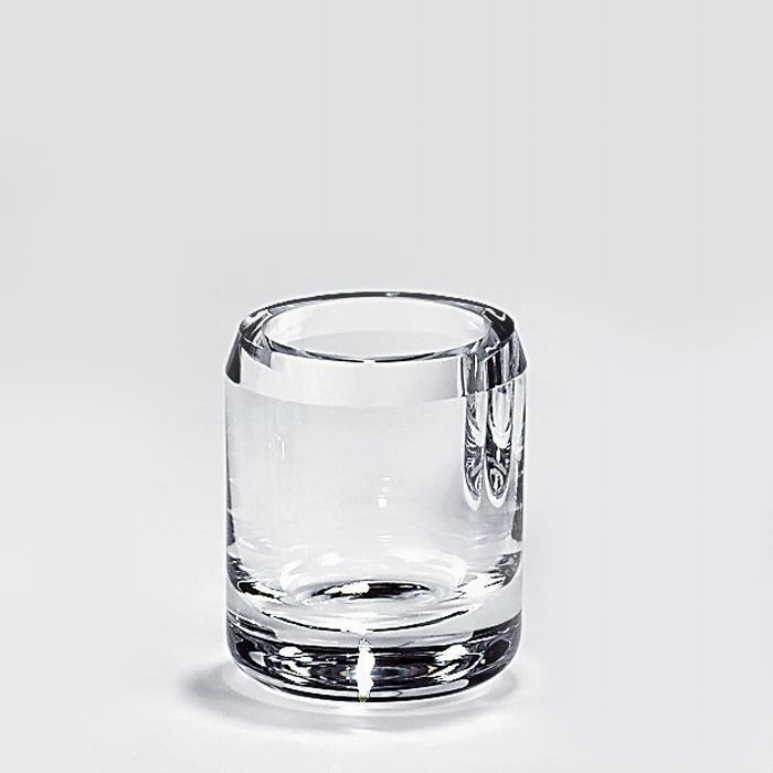 Lambert Salvatore Vase/Becher Kristallglas klar, H 10 cm, D 8 cm 16100