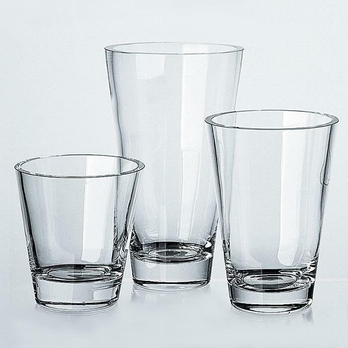 Lambert David Vase Kristallglas klar, H 40 cm, D 24 cm 16422