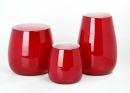Lambert Pisano Vase mittel Überfangglas rot, H 24...